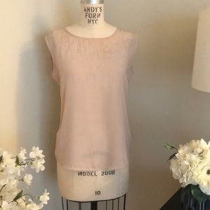 Ivory/Cream Top w/ tone/tone embroidery